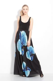 Alice + Olivia Print Silk Maxi Dress