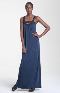 Jay Godfrey Redstone Jersey Maxi Dress