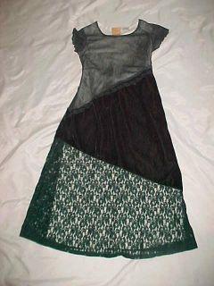Girls Beautiful Thalia Sodi Green Holiday Christmas Dress 7/8 EUC