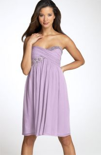 Maggy London Strapless Bead Bodice Dress