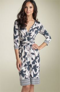 BCBGMAXAZRIA Floral Print Jersey Dress (Petite)