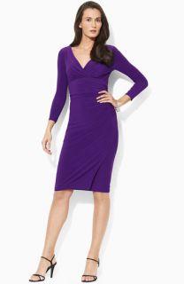 Lauren Ralph Lauren Matte Jersey Dress (Petite)
