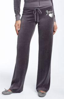 Juicy Couture Metallic Crest Velour Pants