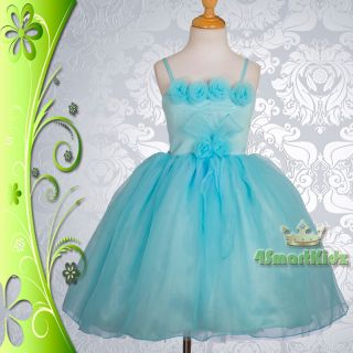 CLEARANCE SALE Blue Wedding Flower Girl Flowergirl Party Dress Size 3