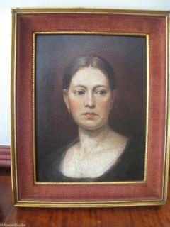 German Artist S. Staudhamer 1857 Oil painting Portrait Woman  found WW