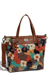 Fossil Vintage Key Per Coated Canvas Tote