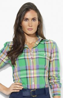 Lauren Ralph Lauren Flap Pocket Plaid Shirt