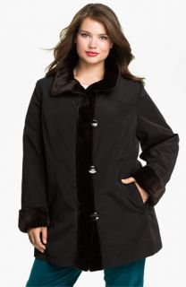 Gallery Storm Coat with Faux Fur Lining (Plus)