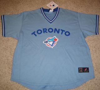 Toronto Blue Jays Throwback Baseball Jersey L Blue