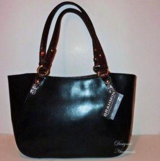 Brahmin Collette Black Tuscan Ashby Melbourne Tote Handbag Purse $275