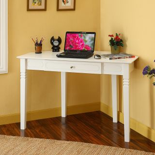 Wood Corner Home Office Computer Desk w Pullout Keyboard Drawer