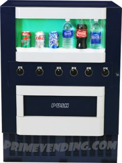 Soda Vending Machine, Vends Can, Bottle, Water & Energy Drink