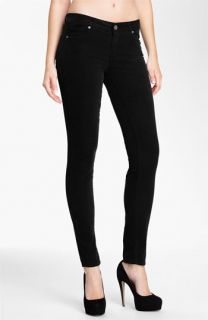 Paige Verdugo Stretch Denim Skinny Jeans (Black)