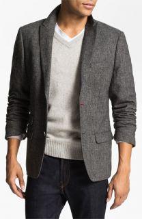Original Penguin Peak Lapel Tweed Blazer