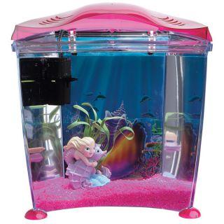 Vintage mermaid porcelain rose girl fish shell bubble bath for Pink fish tank