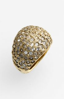 St. John Collection Antique Gold & Crystal Ring