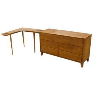 Russel Wright Birch Corner Attachment Table Conant Ball
