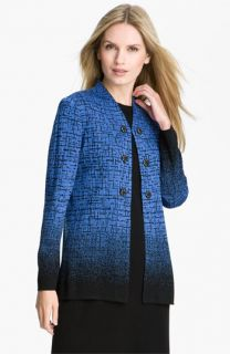 Ming Wang Patterned V Neck Jacket