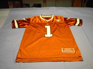 UT 1 Texas Longhorn Colosseum Athletics Burnt Orange Jersey Youth XL