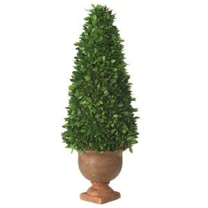 New Cone Boxwood Topiary Tree in Urn RAZ Grand Estate