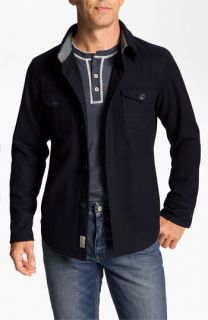 Façonnable CPO Wool Blend Shirt Jacket