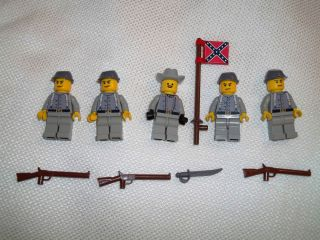 Lego Civil War Mini Figure Custom Confederate Cavalry