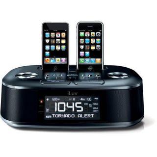 iMM183BLK Hi Fi Dual Alarm Clock Radio with NOAA/S.A.M.E Weather Alert
