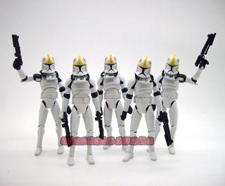 5X Pcs Star Wars Clone Wars Clone Trooper Pilot 3 75 Figure