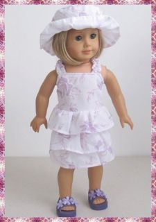 Cute Layered Dress Hat Doll Clothes 4 American Girl Dolls 924