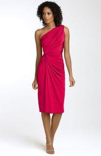 Tadashi Ruched Matte Jersey Dress