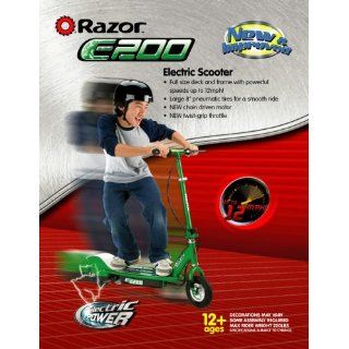 NEW Razor E200 Electric Motorized Kids Scooter Green with Battery and
