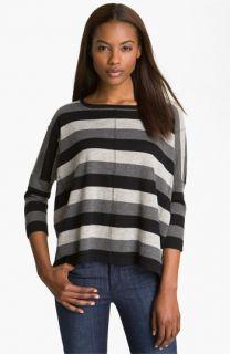 autumn cashmere Stripe Boxy Cashmere Tee