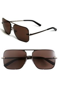 Burberry Square Metal Aviator Sunglasses