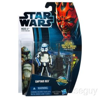 Clone Wars CW 13 CAPTAIN REX (Phase 2) 2012 MOSC Hasbro action figure