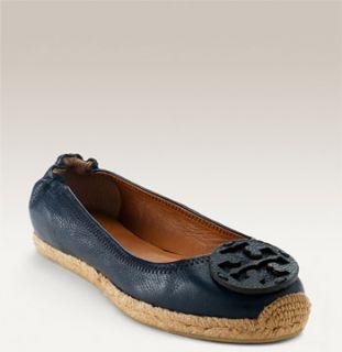 Tory Burch Reva Leather Espadrille Flat