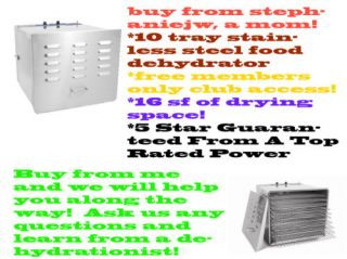 Stainless Steel Food Dehydrator 10 Trays D10 Commercial