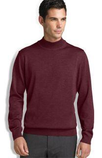 Merino Wool Mock Turtleneck Sweater