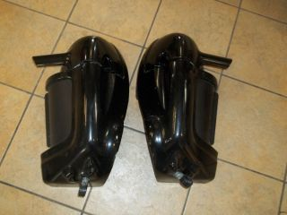 Used Set of Harley Davidson Vented Lower Fairings Gloss Black Complete