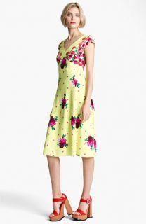 MARC JACOBS Dot & Floral Print Dress