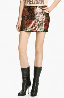 Haute Hippie Floral Sequin Miniskirt