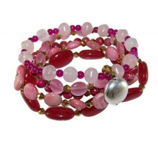 HUEtopia Sterling Shades of Pink Stretch Bracelet   J303813