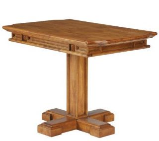 Home Styles Distressed Oak Finish Carved DiningTable —