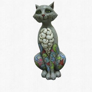 Jim Shore 12 Kitty Cat Garden Statue Conrad 2012