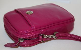 NWT COACH PATENT LEATHER CAMERA PDA CELL PHONE POUCH CASE PINK
