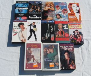 Lot of 13 Drama Comedy VHS Movies Tom Cruise Tom Hanks Clint Eastwood