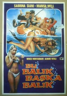 Turkish Movie Poster College Girl on Vacation Comedy