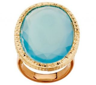 VicenzaGold Bold Oval Gemstone Ring 14K Gold —
