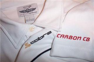 cobra carbon cb golf shirt mens large white