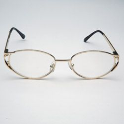 Gold Metal Computer Glasses with Italian style temples