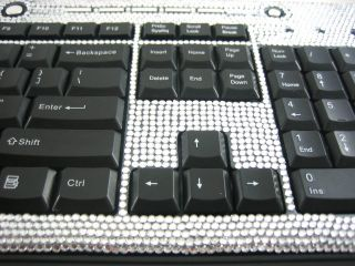 brand new limited edition silver crystal rhinestone keyboard makes you
